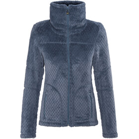 Meru Kaluga High Collar Waffle Teddy Fleece Jacket Women Navy